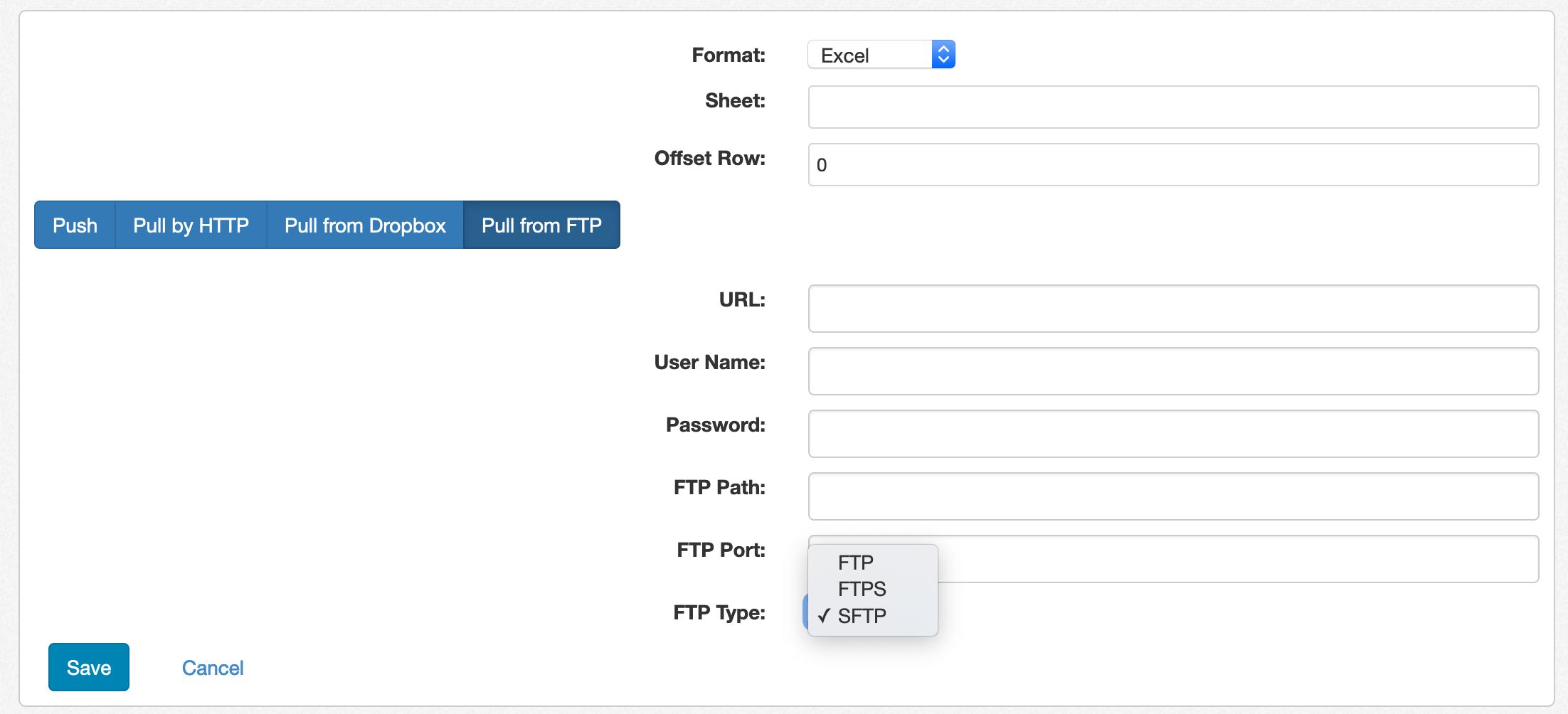 Flat File Configuration